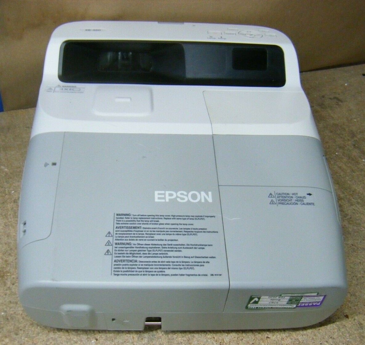 Epson EB-460 Ultra-short-throw LCD Projector 1064x768 683 Hours
