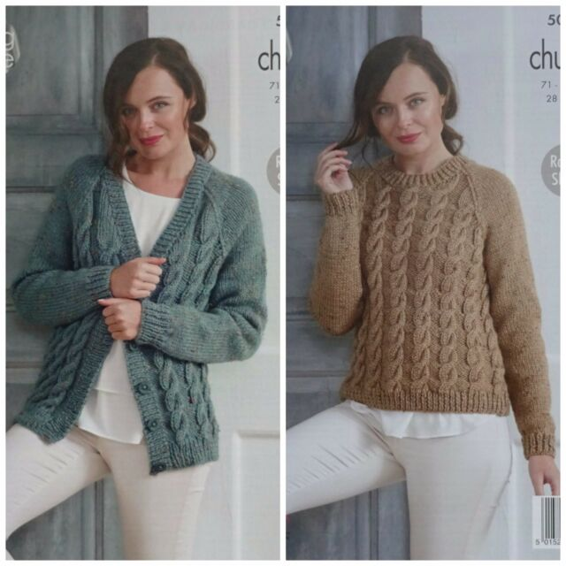 438aeced0b9f King Cole 5012 Knitting Pattern Womens Cabled Cardigan   Sweater in ...