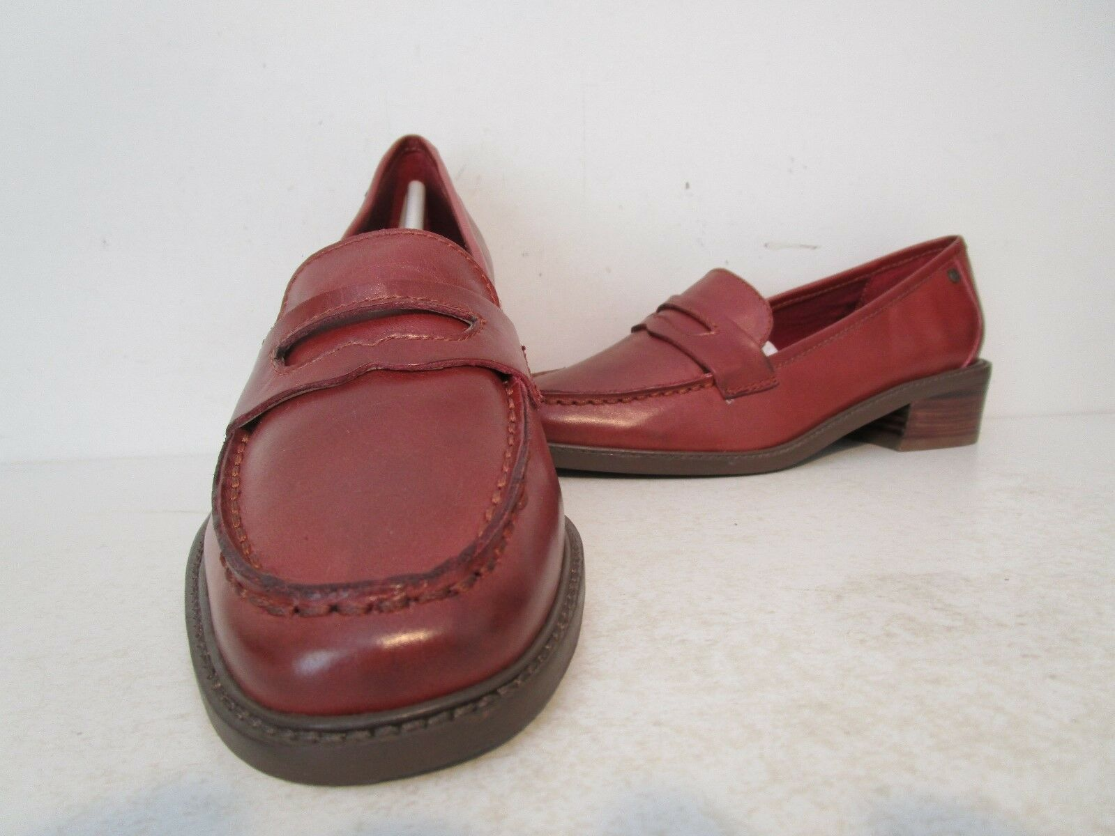 Bass femmes Leather 1.5  Heeled Penny Loafer Slip-On chaussures rougedish Taille 6 M