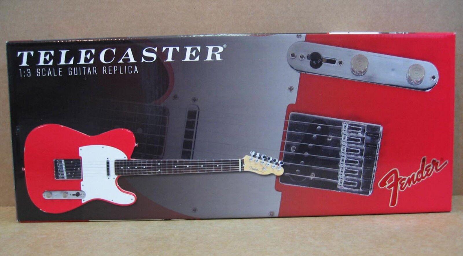 GMP Guitarra Fender Fender Fender Telecaster Réplica Mini rojo pantalla y montaje en parojo Die-cast 1 3 159be1