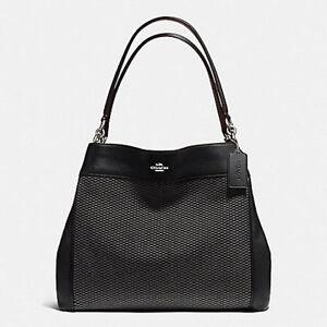 Paypal-Coach-Bag-F57540-Lexy-Shoulder-in-Legacy-Jacquard-Grey-Black-Agsbeagle