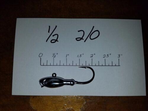 4//0 or  5//0 BLN Hooks 15 1//2oz Style H Bucktail Jigs on HD Mustad  2//0 3//0