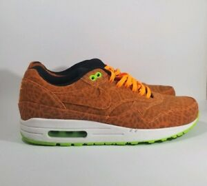 official shop preview of factory outlet Details about VNDS Nike Air Max 1 FB Orange Leopard AM1 Cheetah 579920 881  Sz 8 Rare Atmos