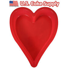 Heart Shape SILICONE CAKE BAKING MOLD Bake Decorating Pan Valentines Day Love