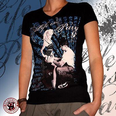 Tattoo Pinup Girlie Rockabilly Oldschool Pitbull Funshirt S-XL