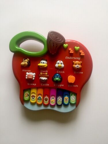 Baby Kids Music Educational intellectual Apple-shape Toy Piano Animal Farm gift