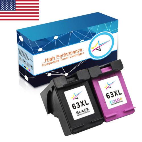 2PCS Premium 63 XL Ink Set Non-OEM for HP Deskjet 3630 3631 3632 3633 3634 3636