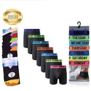 Men/'s 7 Days Of The Week Underwear Soft Ribbed Cotton Trunks /& Socks Gift Set