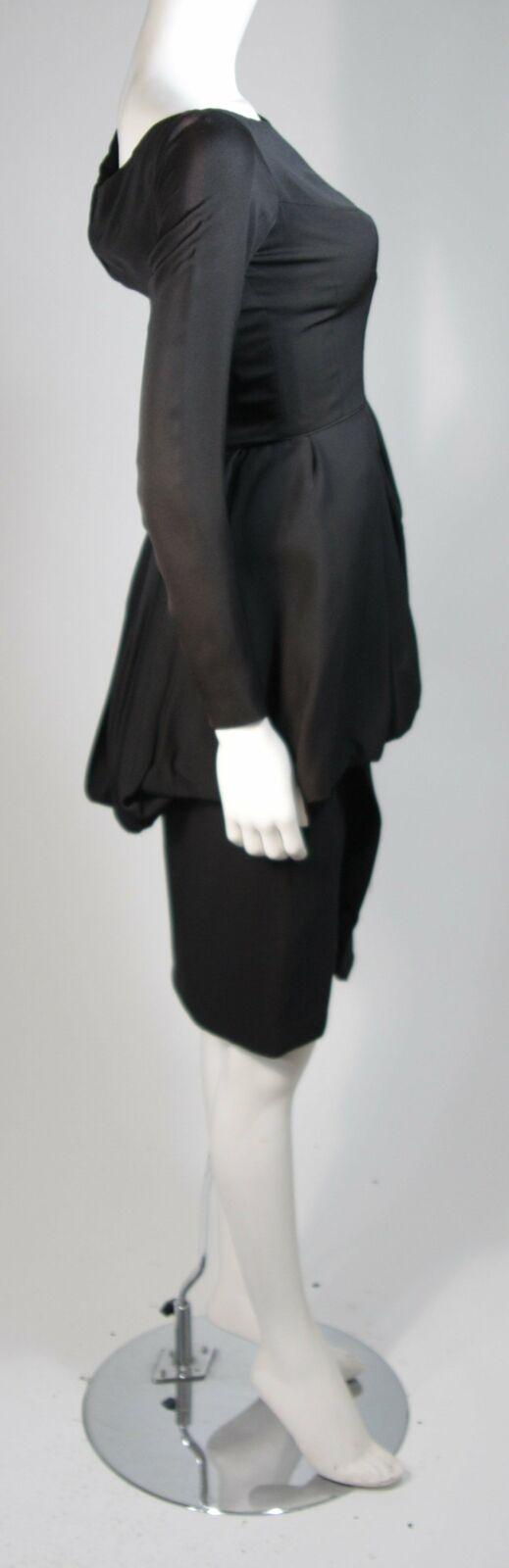 CEIL CHAPMAN Black Draped Princess Style Waist Dr… - image 9