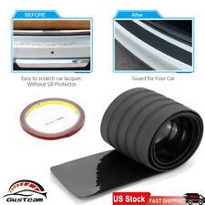 Black Rear Bumper Rubber Pad Kit Guard Sill Plate Trunk Protector Trim Cover Us Fits Pontiac Sunfire