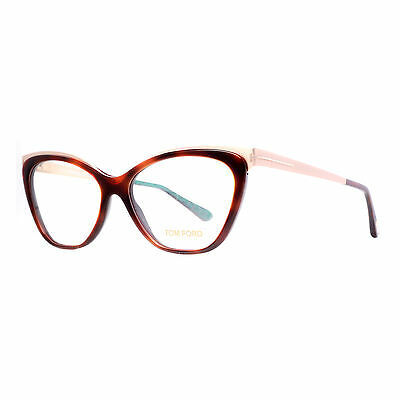 Tom Ford TF 5374 052 Havana Brown/Gold Women's Cat Eye Eyeglasses 54mm