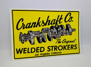 Crankshaft-Co-Los-Angeles-Vintage-Style-DECAL-Vinyl-STICKER-racing-hot-rod