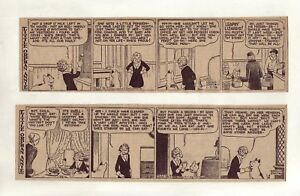 Little-Orphan-Annie-by-Gray-26-large-5-column-comic-strips-Complete-Jan-1938