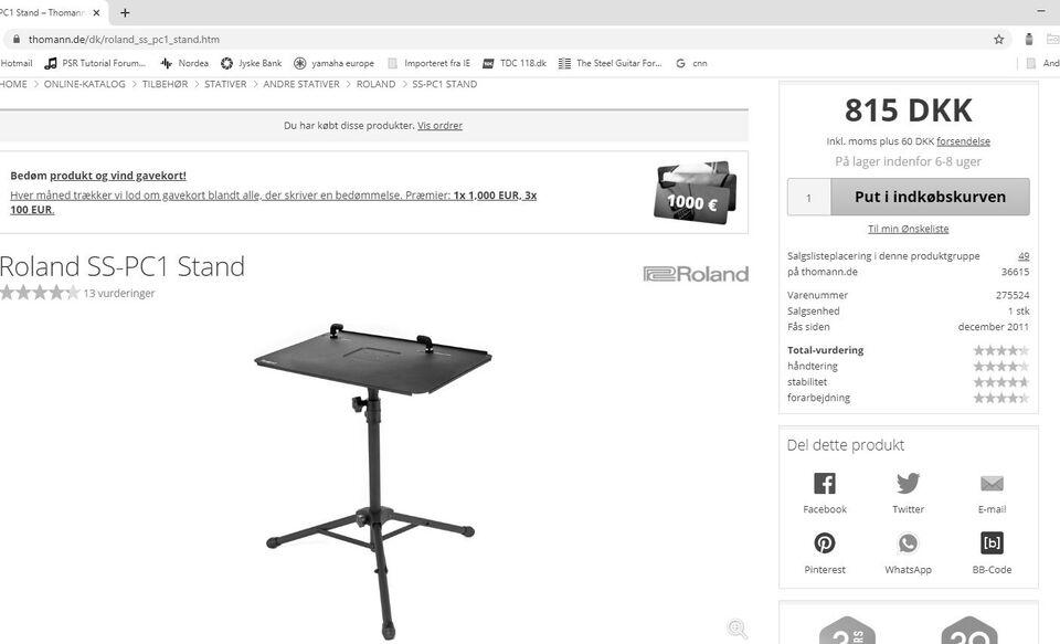 LapTop PC-Stativ, Roland