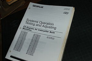 Details about CATERPILLAR C9 DIESEL ENGINE System Testing Adjusting Service  Manual repair 2006