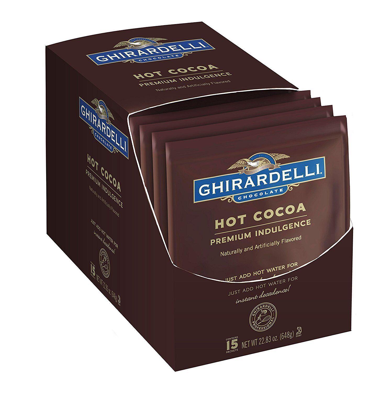 Ghirardelli Premium ingulgence chocolate caliente-Caja caliente-Caja caliente-Caja de 15 Sobres-EE. UU. de Importación febeba