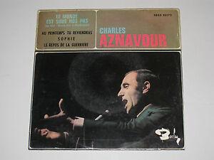 CHARLES-AZNAVOUR-LE-MONDE-EST-SOUS-NOS-PAS-ORIGINAL-ESPAGNOL-EP-7-034