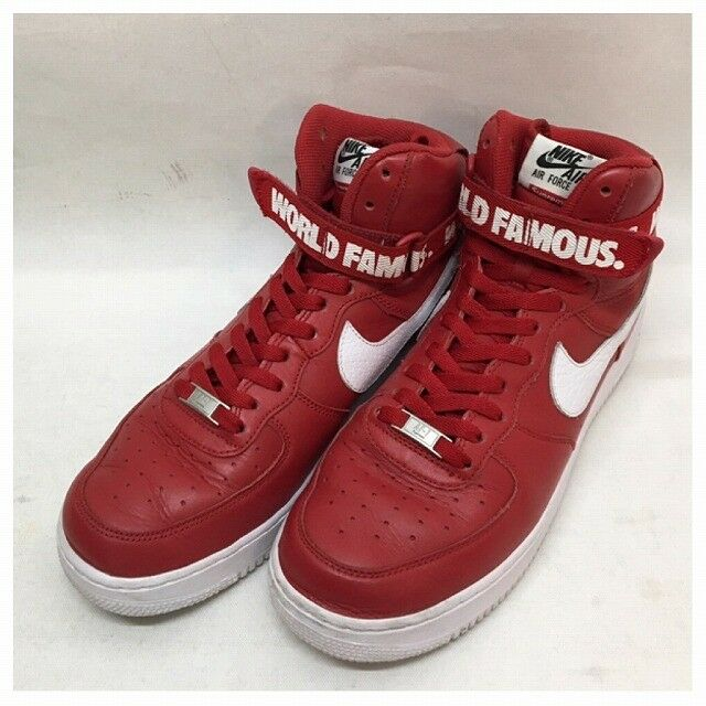 NIKE Supreme 14aw AIR FORCE1 HIGH SP 2014 year Force 1 698 696 610 sneakers (K19