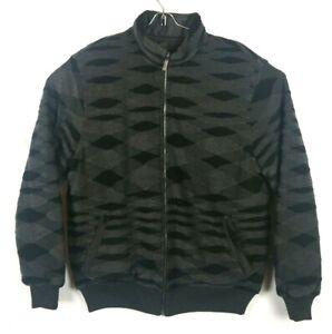 Missoni-Sport-Pattern-Men-Reversible-Puffer-Padded-Wool-Coat-Size-56-Jacket