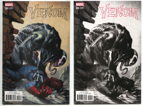 Venom 4 Marvel Now 2017 NM Gabriele Dell/'Otto Color B/&W Set Variant Spider-Man