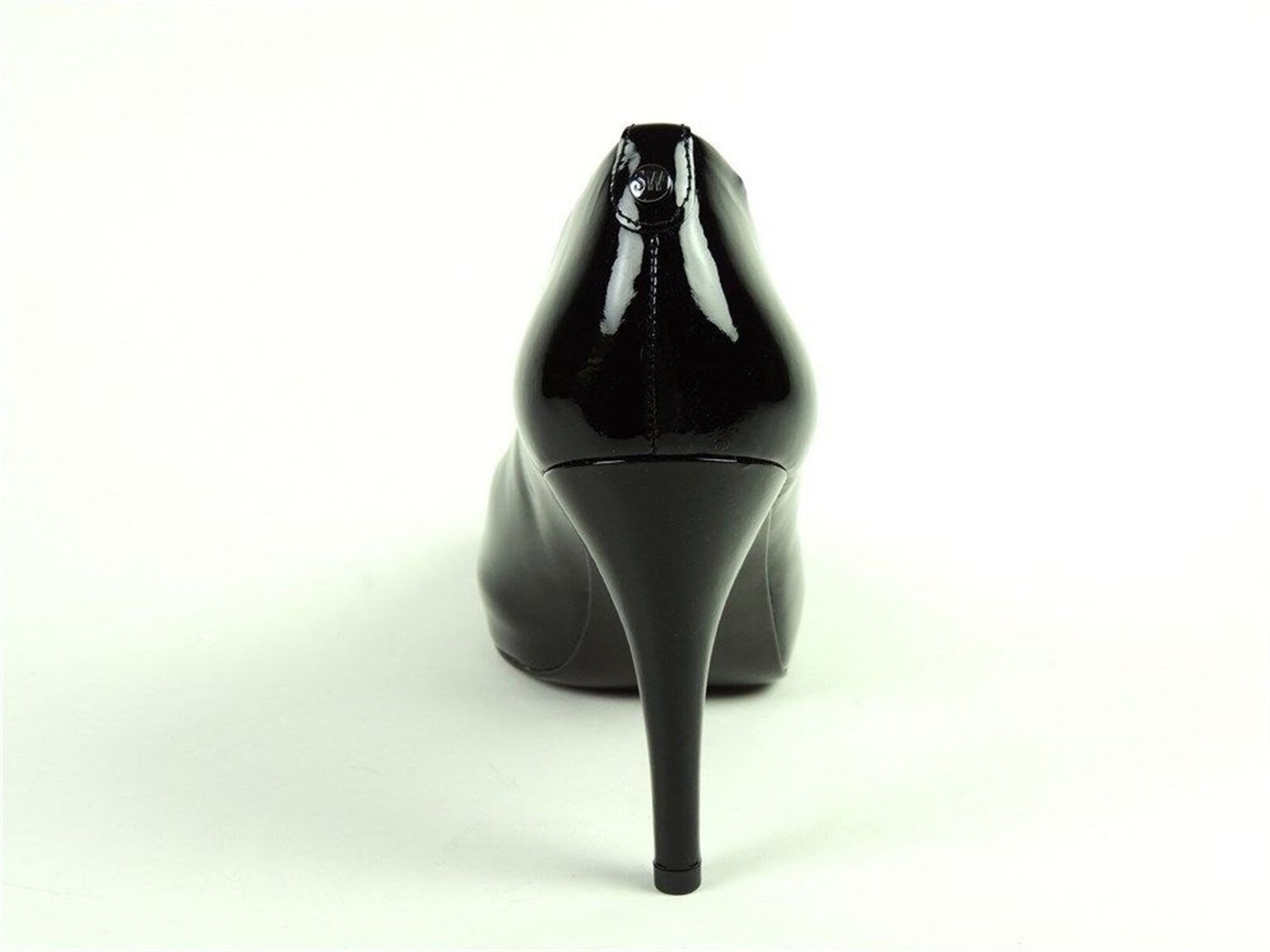 Stuart Weitzman Mujer Sierra de salón con Plataforma De Cuero Negro Negro Cuero Tamaño 10.5 M c8fa04