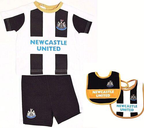 NEWCASTLE UNITED FC BABIES T SHIRT SHORTS SET KIT BABY SHORT SLEEVE PRAM SUIT