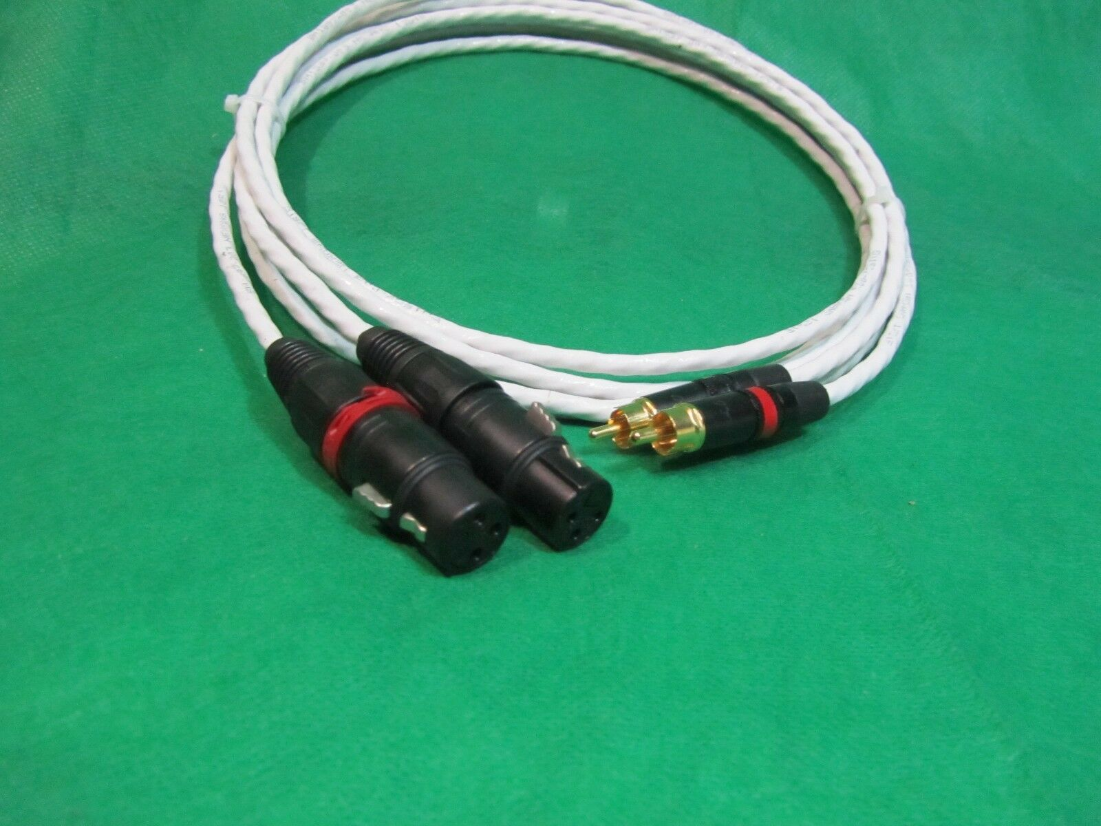 20 FT PURE Silber PLATED MIL-SPEC RCA TO BALANCED XLR FEMALE INTERCONNECT CABLE.