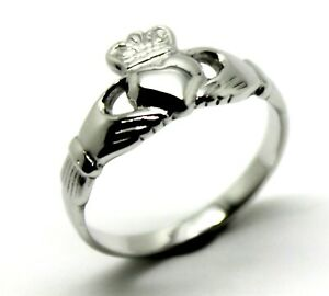 SIZE M  STERLING SILVER IRISH CLADDAGH RING RRP$175 *Free express post in oz