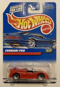 1998-HotWheels-FERRARI-F50-Red-Rosso-Corsa-377-MOLTO-RARA-Nuovo-di-zecca-MOC