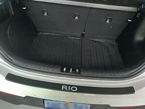 für KIA Rio Car Zubehör Einstiegsleisten Hinten Stoßstangenschutz Beschützer 16