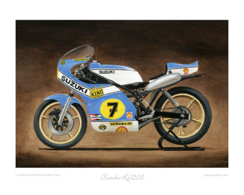 "Art Print 20/""x16/"" by Steve Dunn Suzuki RG500 XR14 Limited Edition of 50"