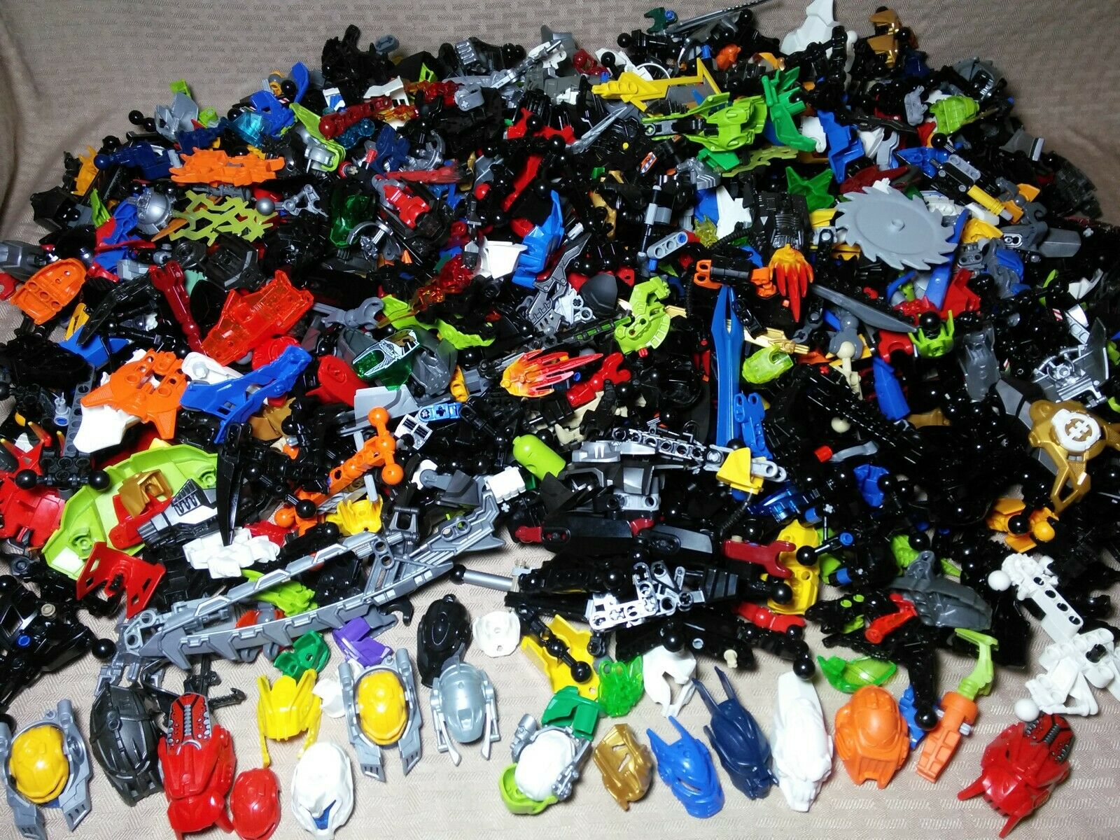LEGO Hero Factory Bionicle Bulk 10.5 lb Lot Authentic Figures Masks Weapons O