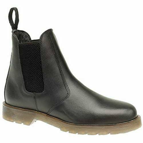 10573-010 Grafters Pull On Dealer Chelsea Boots - black M573A