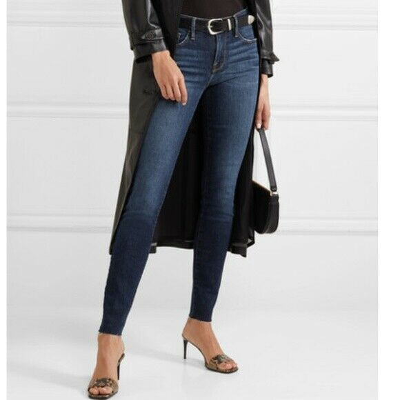 FRAME  le Skinny De Jeanne Raw Edge envejecido mediana altura Jeans Talla 25 Nuevo sin etiquetas  edición limitada en caliente