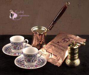 Turkish-Emporium-Coffee-Set-Ibrik-Grinder-2-Cups-amp-Pack-of-Coffee