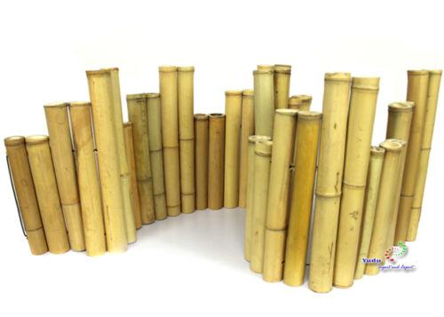 Bambus Beetumrandung Dekozaun Bambuszaun Bambusrohr Rasenkante