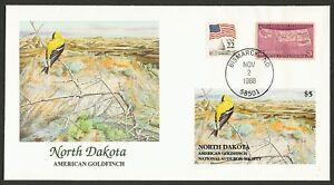 Nat 'L Audubon Society-North Dakota-Goldfinch, Fleetwood Cualquier 5=
