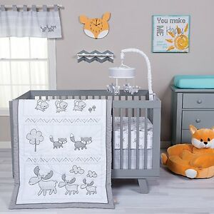 Image Is Loading Trend Lab Aztec Forest Baby Nursery Crib Bedding