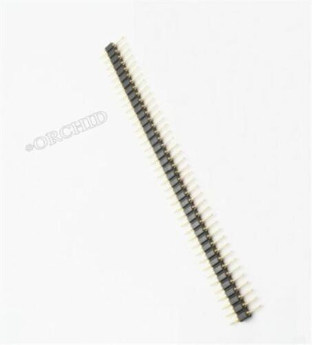 1Pcs Pin Header Single Row 40Pin 2.54 mm Round Male Plaqué Or Usiné RW