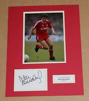 PETER BEARDSLEY In Liverpool Shirt HAND SIGNED Autograph Photo Mount + COA