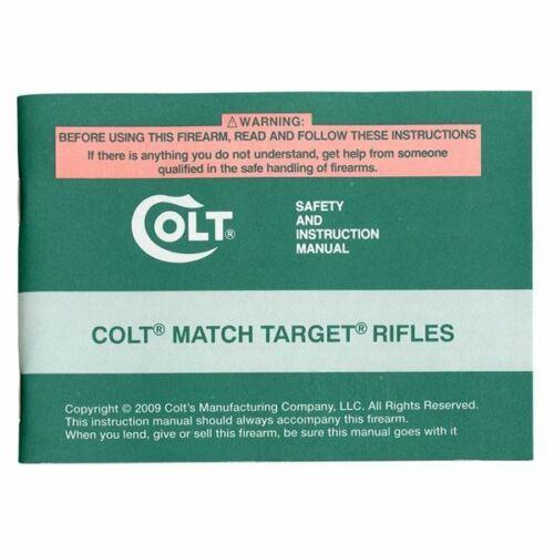 Colt Match Target Rifles Manual