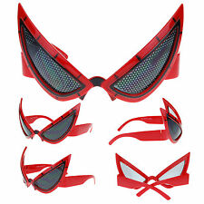 Red Novlety Party Shade Super Hero Mesh Lens Mask Warp Sunglasses