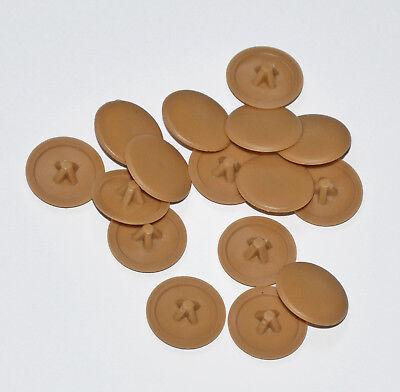20 marrone chiaro Screw COVER CAPS Pozi Head