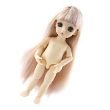 1//12 BJD DIY Lovely 13 Jointed Dolls 3D Eyes Handmade Mushroom Head Boy