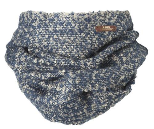 BARTS Loop LENI Col navy Loop-Schal gestrickt blau beige Wolle neu Winterschal