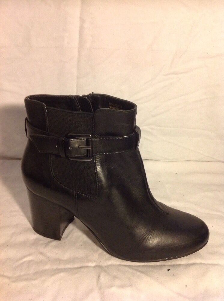 Love Leather By George. Black Ankle Leather Boots Size5