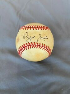Ozzie-Smith-Autographed-Game-Used-Baseball-St-Louis-Cardinals-Collectible