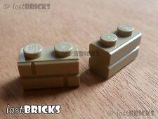 FREE P/&P SELECT COLOUR Part 98283 3 x NEW LEGO Bricks 2x1 Masonry Profile