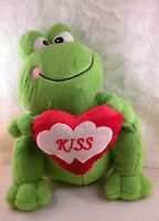 12 Green Kiss The Frog Heart Plush Soft Dan Dee Lovable Stuffed Animal