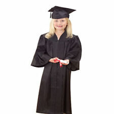 Children's Black Graduation Outfit Hat and Gown Costume Outfit Set Kids Unisex